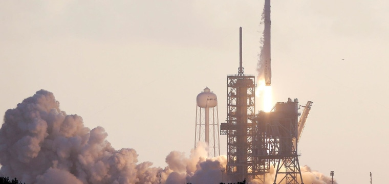 SpaceX Falcon 9 Rocket Carries Classified Satellite Into Space