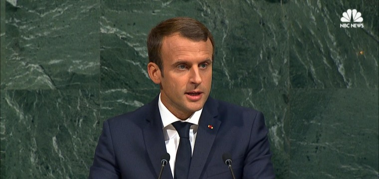 Macron at U.N.: Paris Climate Agreement 'Not Up For Renegotiation'