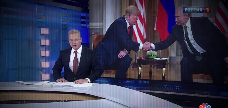 'Master of rhetoric': Russian TV praises Putin after Trump meeting
