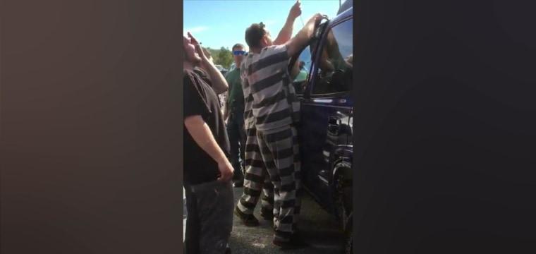 Tov Inmatesrescue Nbcnews Fp Watch Inmates Help Deputies Rescue Baby Accidentally Locked Car