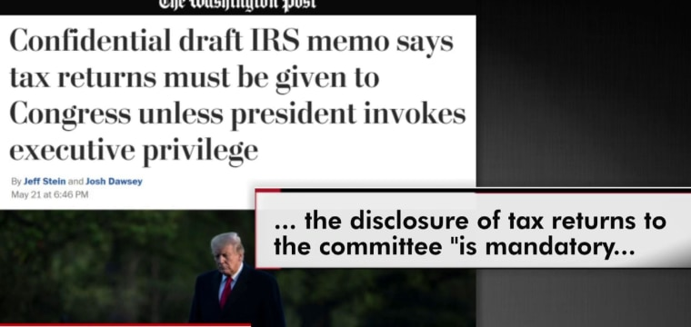 IRS: Trump has basically no choice but to hand over his taxes.