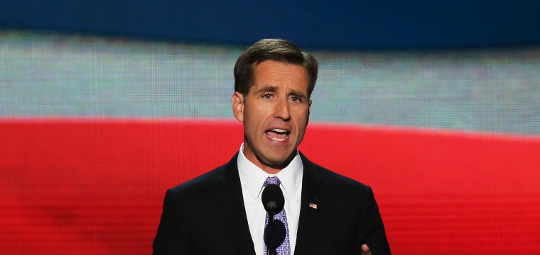 Image: Beau Biden speaks on stage during the final day of the Democratic National Convention in 2012