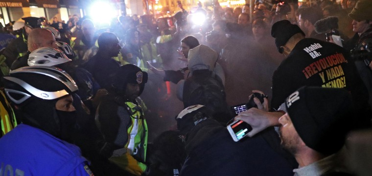 Anti-Trump Protesters Pepper Sprayed on Eve of Inauguration Outside 'DeploraBall' in D.C.