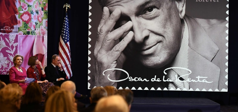 Oscar de la Renta Is Honored with Postage Stamp