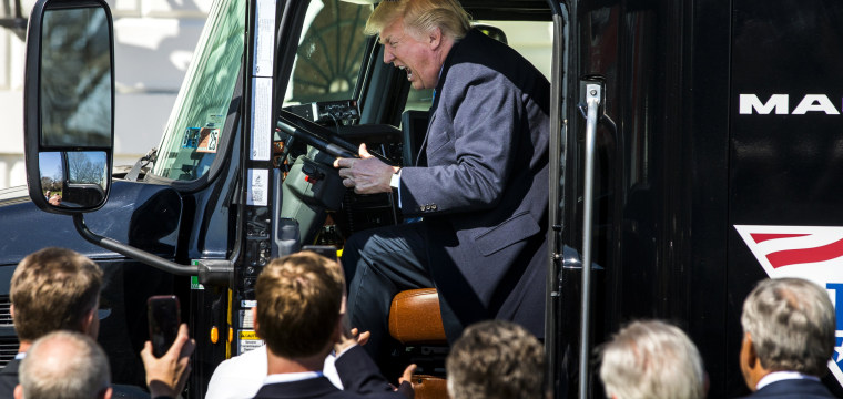 Rigged! President Turns 18-Wheeler Into a Trump Truck