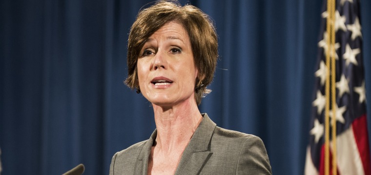 White House Denies Claims That Former Attorney-General Sally Yates' Testimony Was Blocked