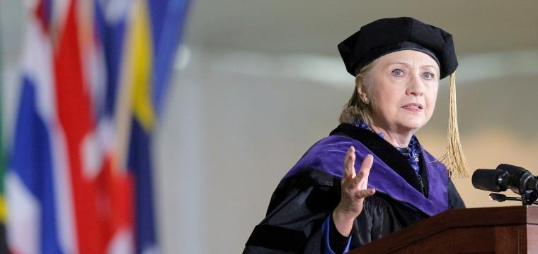 Hillary Clinton Attacks Donald Trump at Wellesley College Graduation