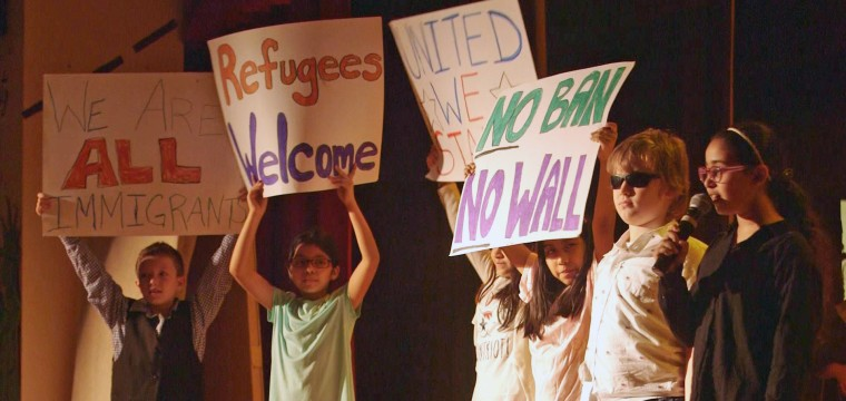 Image: Fourth graders create an immigration musical