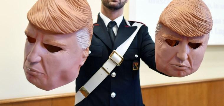 Italian Bank Robbers Wear Trump Masks During Heists