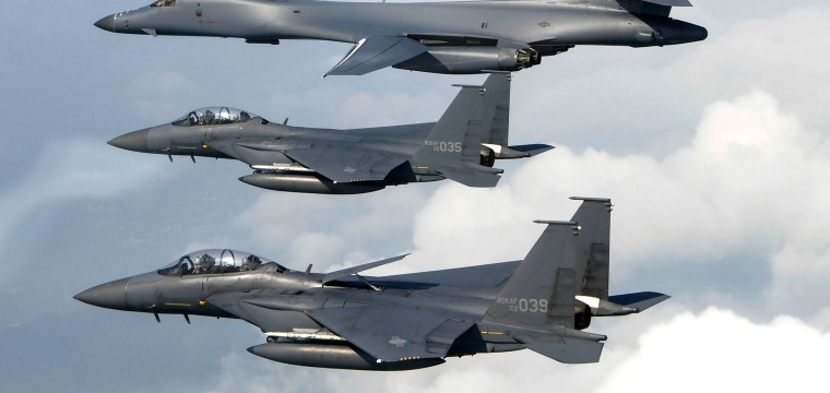 N. Korea Says Rockets to U.S. 'Inevitable' as American Jets Stage Show of Force