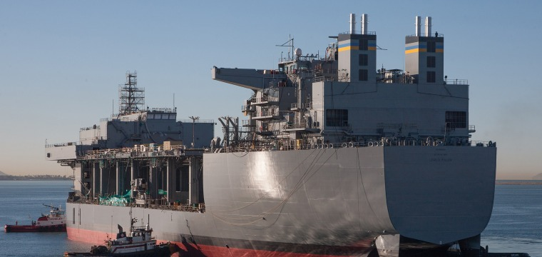 Navy Turning Civilian Support Vessel Into Warship in Middle East