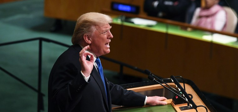 Trump tells the UN: North Korean Leader 'Is on a Suicide Mission'