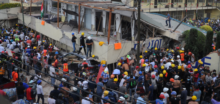 Mexico Earthquake: 25 Killed at School, 11 Rescued From Rubble