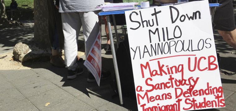 'Free Speech Week' at UC Berkeley Canceled, Milo Yiannopoulos Blames School