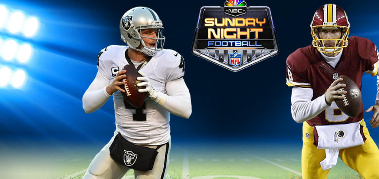 WATCH LIVE: Raiders vs. Redskins in Sunday Night Football on NBC