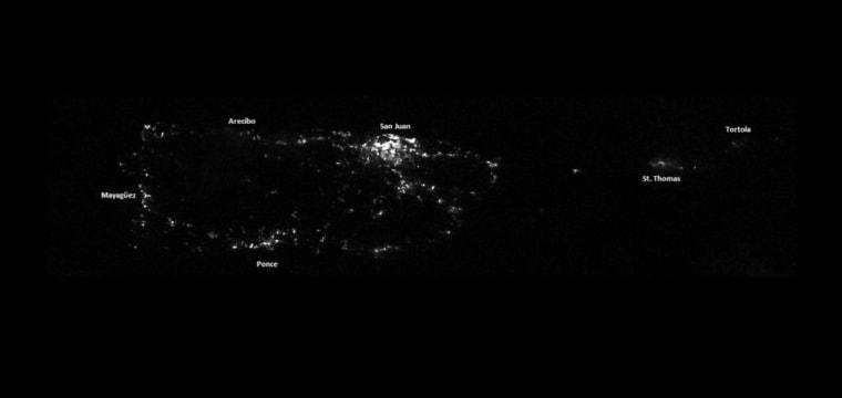 Satellite Photos Show Puerto Rico Left in the Dark After Hurricane Maria