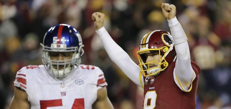 Redskins win Thanksgiving showdown against Giants