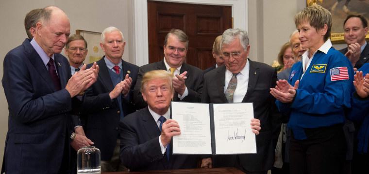 Trump directs NASA to return to the moon before aiming at Mars
