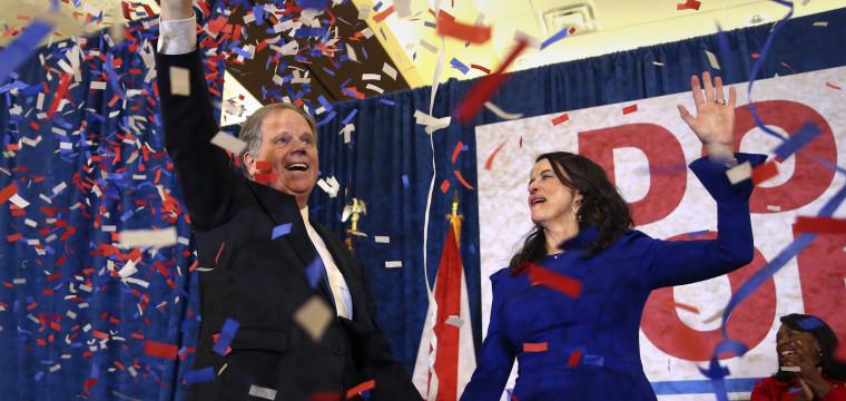 In stunning upset, Democrat Doug Jones is apparent winner over Roy Moore in Alabama Senate race
