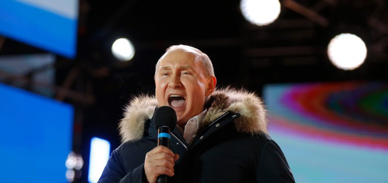 Putin poised to sweep to victory in Russian election