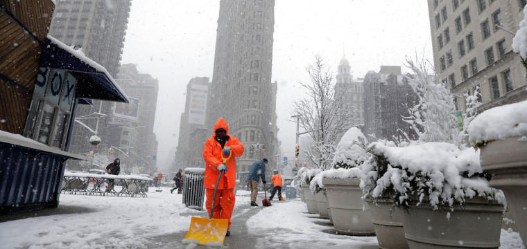 Fourth nor'easter in three weeks leaves 90,000 without power after heavy snow