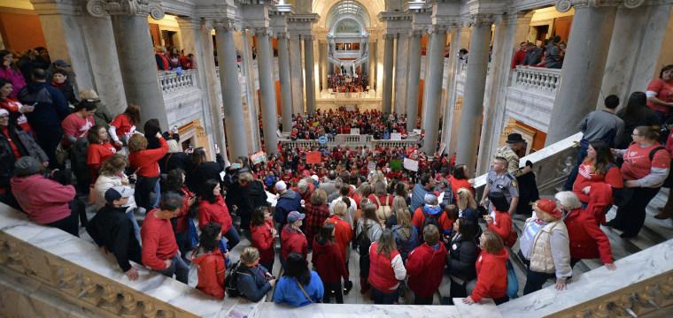 Oklahoma, Kentucky public schools close as thousands of teachers strike