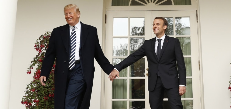 Body politic: Trump puts personal 'touch' on diplomacy with Macron