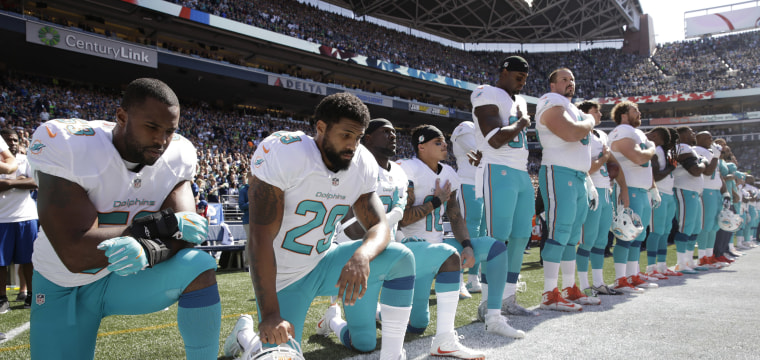 Trump says NFL players who kneel during national anthem 'maybe shouldn't be in the country'