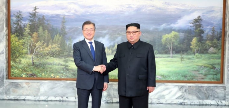Korean leaders hold surprise second summit as Trump says Kim talks could go ahead