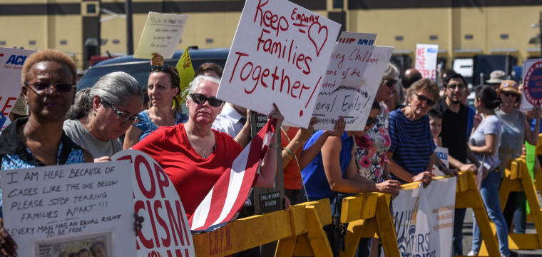 First lady Melania Trump makes statement on family separations as protests grow