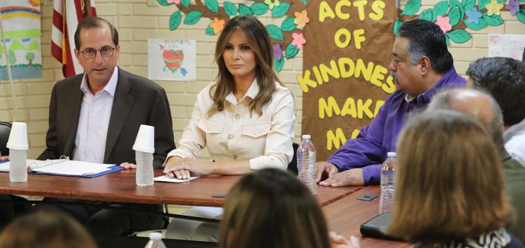 Melania Trump makes unannounced visit to Texas border amid crisis over separated families
