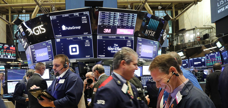 The Dow posted a gain of 547 points, bouncing back after a sell-off