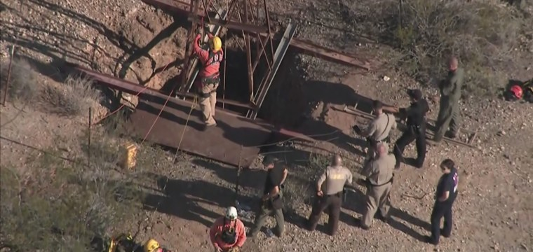 Man rescued after two days at bottom of mine shaft was searching for gold