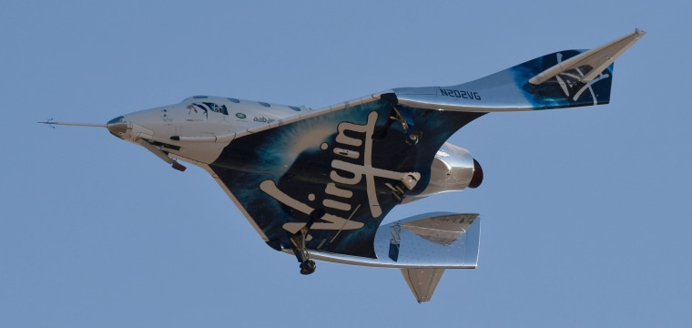 Virgin Galactic test flight reaches the edge of space for the first time