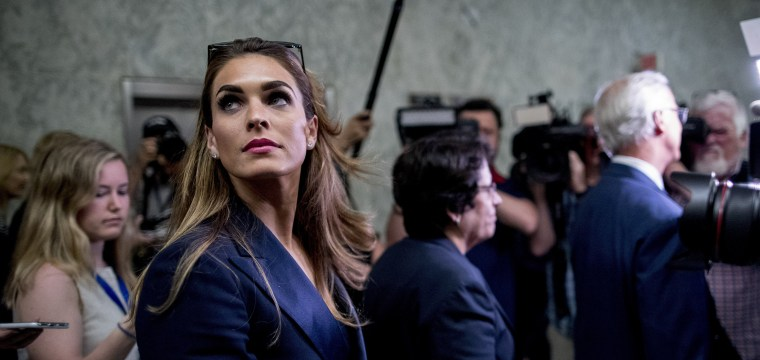 House Democrats demand answers from Hope Hicks over 'apparent inconsistencies' in her testimony