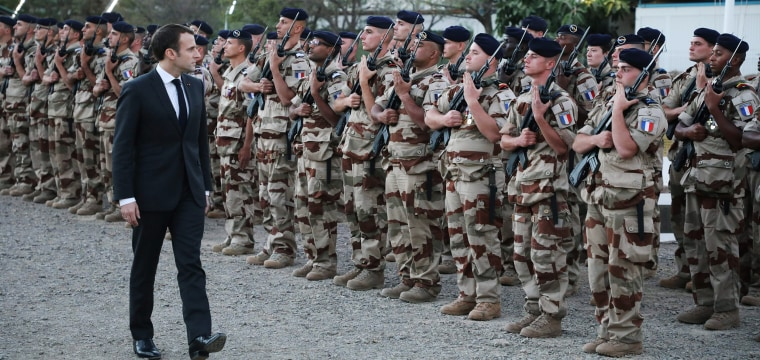 Macron pleads with Trump not to cut off U.S. support for French forces in Africa