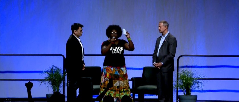 'Black Lives Matter' Activists Interrupt O'Malley-Sanders Forum