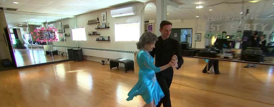 98-Year-Old Stays Young With Yoga, Ballroom Dancing
