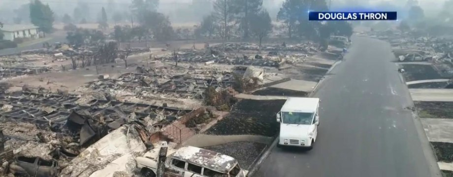 Mailman Returns to Route After CA Wildfires