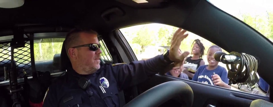Police officer uses viral fame to help communities