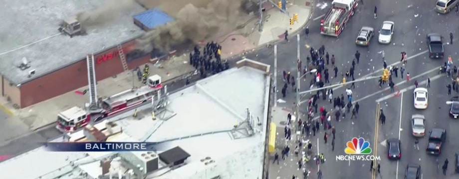 Baltimore on Edge as Police and Rioters Clash