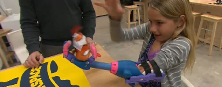Girl Gets New Hand Thanks To 3-D Printing Technology