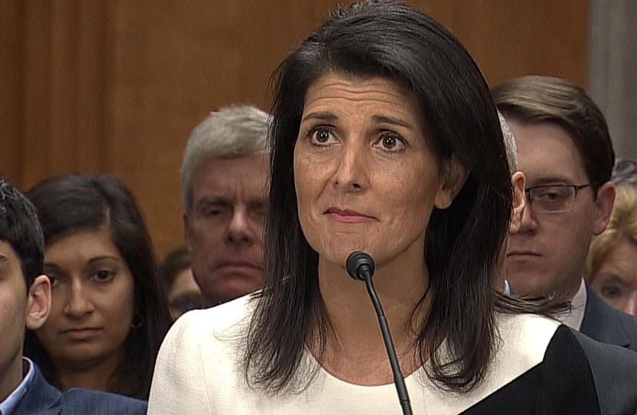 Haley Faces Questions on Russia, Muslim Registry, at Confirmation Hearing