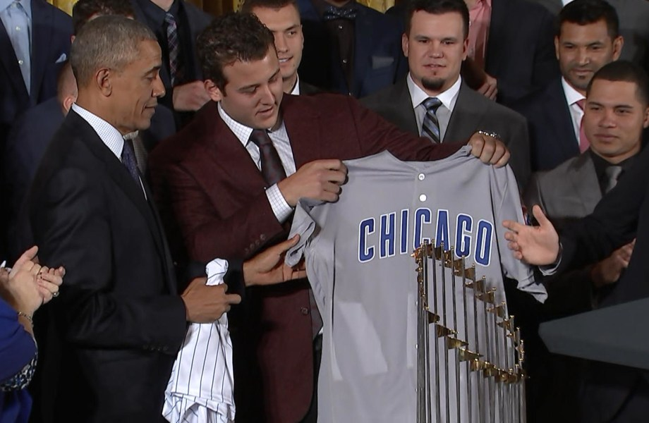 Watch Obama's Best Jokes During His Meeting With Chicago Cubs
