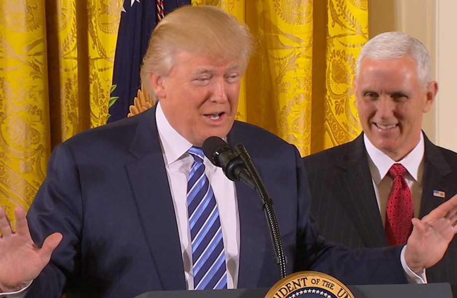Trump at Staff Swearing-In: 'We Will Prove Worthy of This Moment in History'