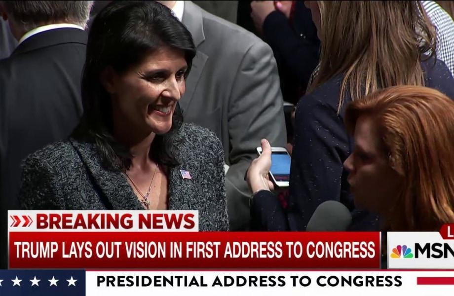 UN Ambassador Nikki Haley responds on Pres. Trump & Russia