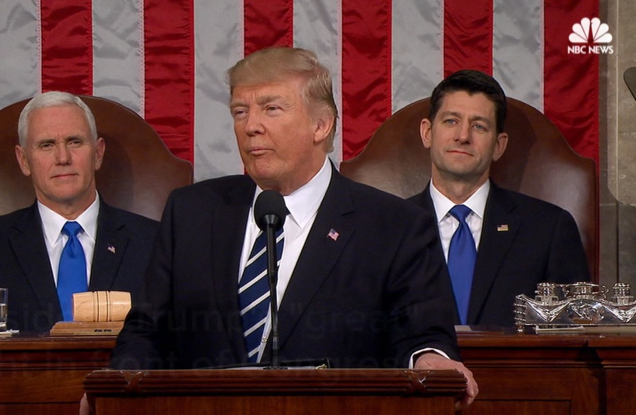 Trump's 'Great' Night Before Congress in His Own Words