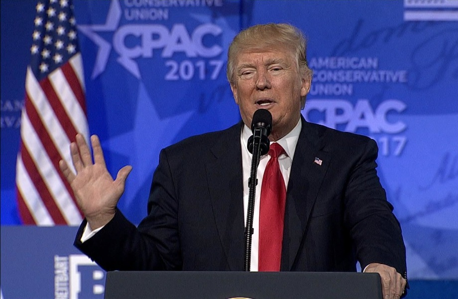 Trump Stresses Patriotism Over Global Cooperation to CPAC Crowds