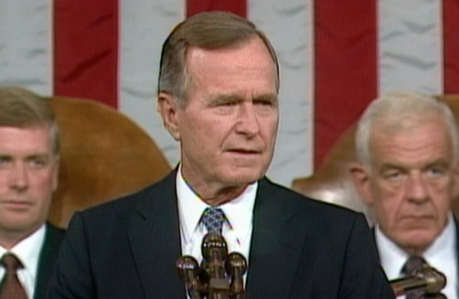 Sept. 11, 1990: President Bush Addresses Congress After Iraq Invasion of Kuwait