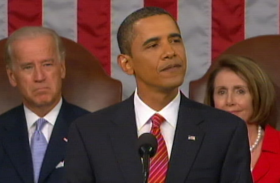 2009: President Obama is Heckled While Addressing Congress